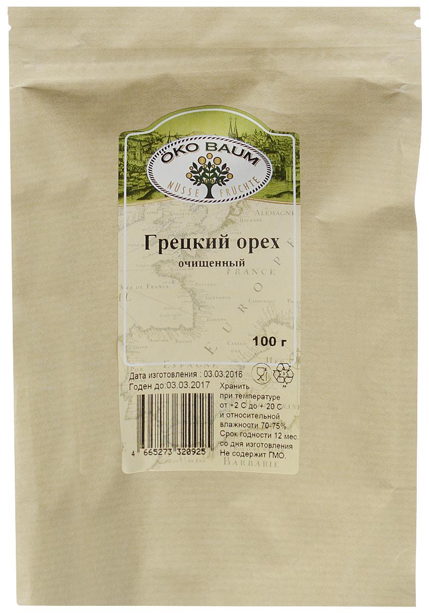 Oko Baum грецкий орех очищенный, 100 г4665273320925Грецкий орех – лакомство, знакомое с самых давних времен. Он завоевывает все больше поклонников по всему миру, используется почти во всех кухнях. По совокупности полезных свойств нам трудно найти равных грецкому ореху в растительном мире. Состав грецкого ореха огромен. Он содержит массу микроэлементов и витаминов. Кремний, медь, железо, натрий, кобальт, железо, цинк восстанавливают организм и продлевают молодость. Богат он и на витамины группы В, РР, С, Е, А, в составе много ненасыщенных жирных кислот, стероиды, алкалоиды, клетчатка, необходимый для организма белок. Имеет более 20 аминокислот, в том числе незаменимые. По содержанию аскорбиновой кислоты продукт превышает даже смородину и цитрусовые. В сезон простуды и гриппа он просто незаменим. Многие заболевания лечит этот чудо-продукт. В орехе удивительным образом сочетается польза и вкус. Грецкий орех нужно съедать каждый день в количестве 3-4 ядер. Здоровым людям можно есть немного больше.