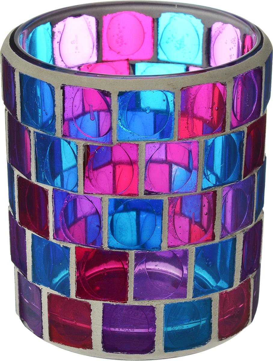 Подсвечник для чайной свечи Gardman Florence, диаметр 7,5 см19744Подсвечник для чайной свечи Gardman Florence изготовлен из стекла в виде стакана и украшен разноцветной мозаикой. Изделие предназначено для чайной свечи. Мерцание огня в таком стакане поможет создать в доме неповторимую атмосферу романтики и уюта.