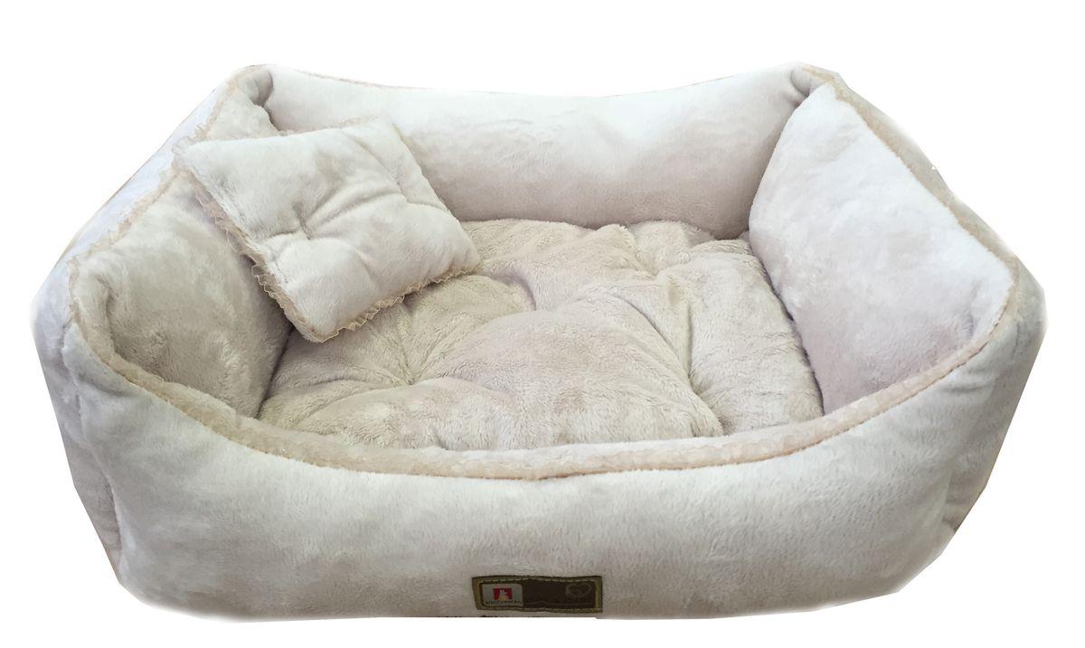 Лежак для собак и кошек Версаль (55*50*12 см)2281Материал: шерстяная микроволоконная и искуственная меховая ткань