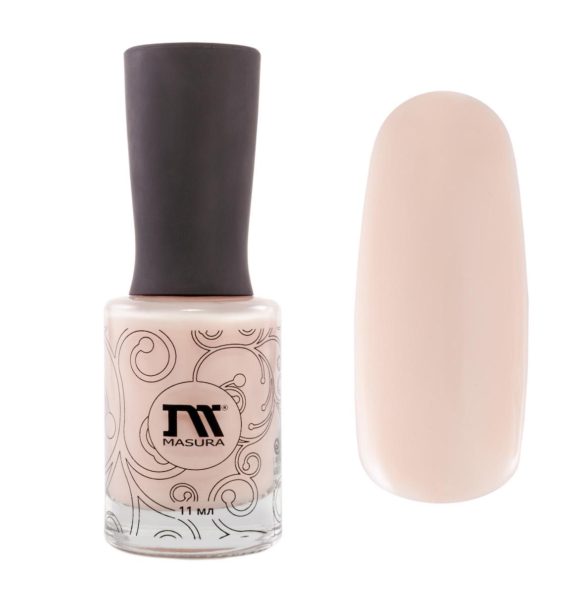 Masura Лак для ногтей Французский Маникюр, 11 мл1001Теплый нюдовый с розовым подтоном, полупрозрачный.
