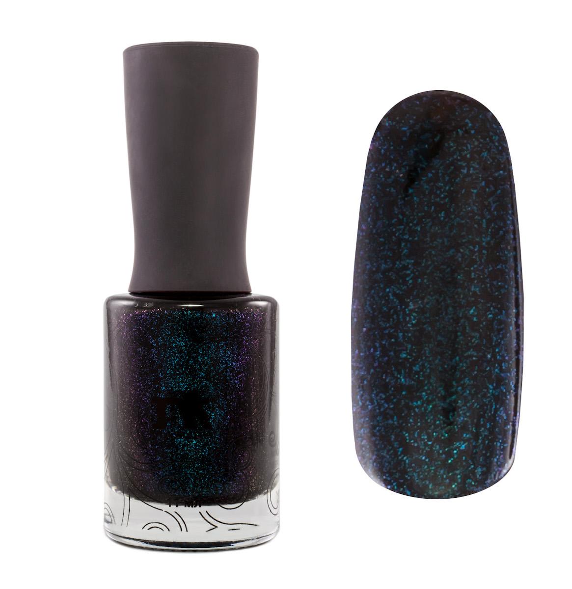 Masura Лак для ногтей Пусть Это Останется Тайной, 11 мл1031серый вуалевый с коричневым подтоном, с зеленовато-синим мерцанием и синей слюдой