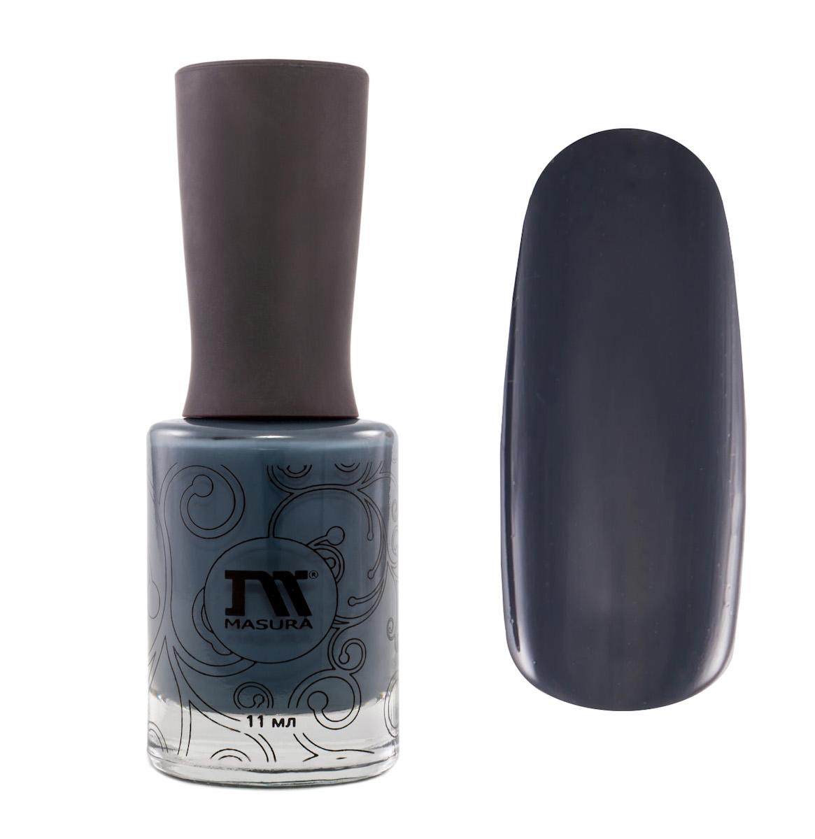 Masura Лак для ногтей Та Звезда Носит Мое Имя, 11 мл1036эмалевый темно-серый с холодным джинсовым подтоном