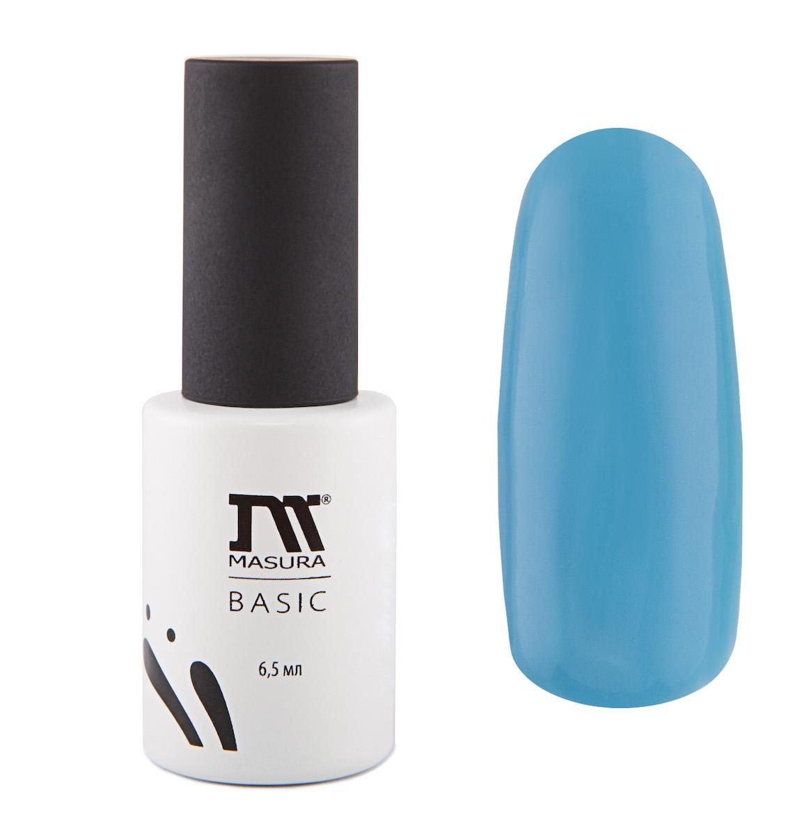 Masura Гель-лак BASIC Мечты сбываются 6,5 мл294-68Небесно-голубой, без блесток и перламутра, плотный