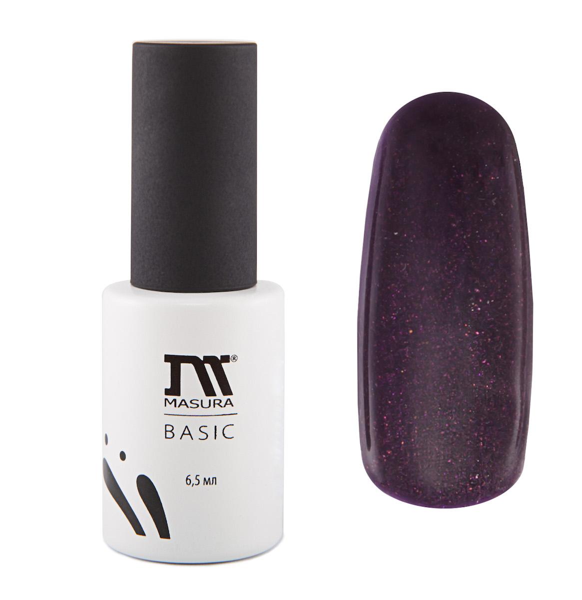 Masura Гель-лаки BASIC Марко Поло, 6,5 мл294-90Темно-фиолетовый с мелким голографическим и сиренево-бронзовым мерцанием, плотный