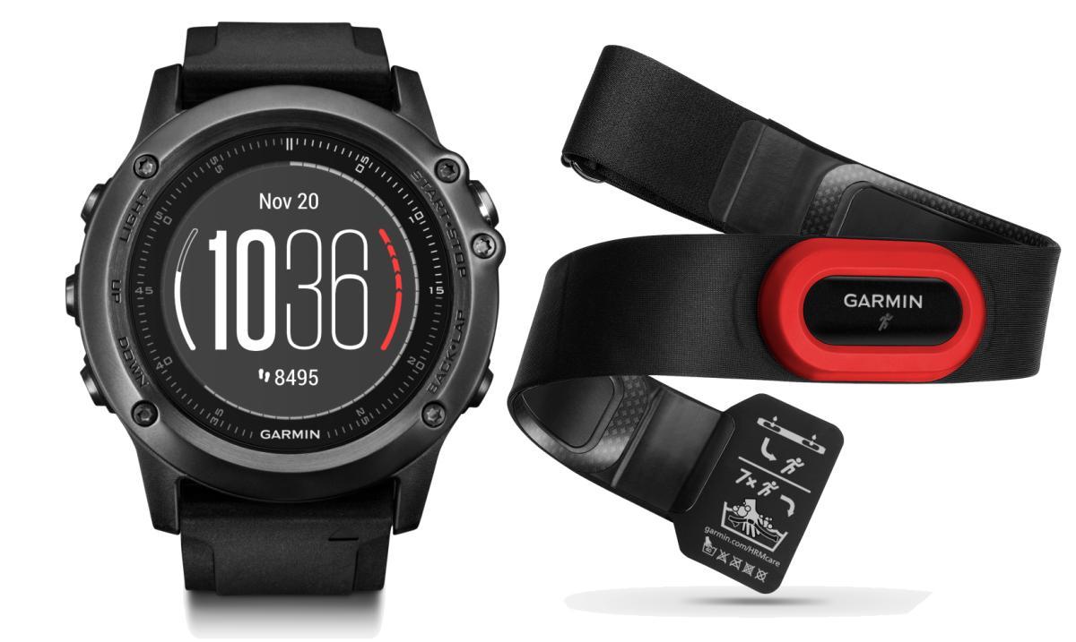 Спортивные часы Garmin Fenix 3 Sapphire HR+HRM -Run, цвет: черный, серый. 010-01338-74010-01338-74Оптический пульсометр Elevate на запястье + нагрудный пульсометр HRM-Run Мониторинг: Физической активности Датчики: GPS- трекер;Барометр;Гироскоп;Компас;Пульсометр;Сердечного ритма Особенности: Влагозащищенный;Оповещения со смартфона;Часы;Водонепроницаемый;Противоударный Совместимое ОС: GARMIN Материал корпуса: Нержавеющий медицинский металл Материал ремешка/браслета: Силикон Длина ремешка: 16 см Время работы: 6 недель Интерфейс: Bluetooth Метод зарядки: microUSB 2.0 Вид аккумулятора: Li-ion Емкость аккумулятора: 300 mA