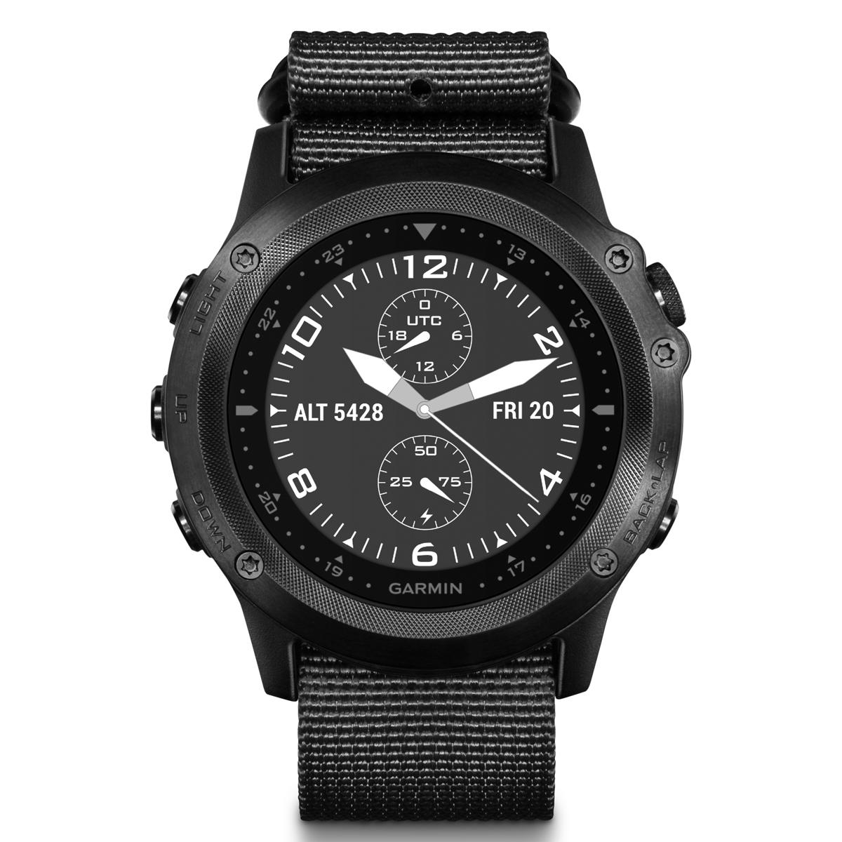 Спортивные часы Garmin Tactix Bravo , цвет: черный. 010-01338-0B010-01338-0BОтдельный профиль для боевых действий с настраиваемым полем данных с двойной координатной сеткой и предзагруженными приложениями, например, Jumpmaster и проекцией маршрутных точек. Два режима подсветки: для обычного использования и работы с прибором ночного видения, сапфировое стекло, ремешок сделан из баллистического нейлона Мониторинг: Физической активности Датчики: GPS- трекер;Барометр;Гироскоп;Компас;Альтиметр (высотомер);Датчик освещенности;GPS- трекер Особенности: Влагозащищенный;Оповещения со смартфона;Часы;Водонепроницаемый;Противоударный Совместимое ОС: GARMIN Материал корпуса: Нержавеющий медицинский металл Материал ремешка/браслета: Текстиль Длина ремешка: 16 см Время работы: 6 недель Интерфейс: Bluetooth Метод зарядки: microUSB 2.0 Вид аккумулятора: Li-ion Емкость аккумулятора: 300 mA