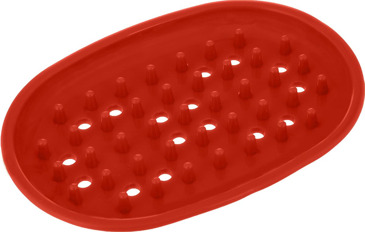 Мыльница York, цвет: коралловый, 12,5 х 9 х 1,3 см9700_коралловыйОригинальная мыльница York, изготовленная из сложных полимеров, устойчива к воздействию влаги. Изделие удобно в использовании. Мыло не тает и не засыхает, его остатки легко смываются водой. Такая мыльница прекрасно подойдет для ванной комнаты или кухни. Мыльница York создаст особую атмосферу уюта и максимального комфорта в ванной.