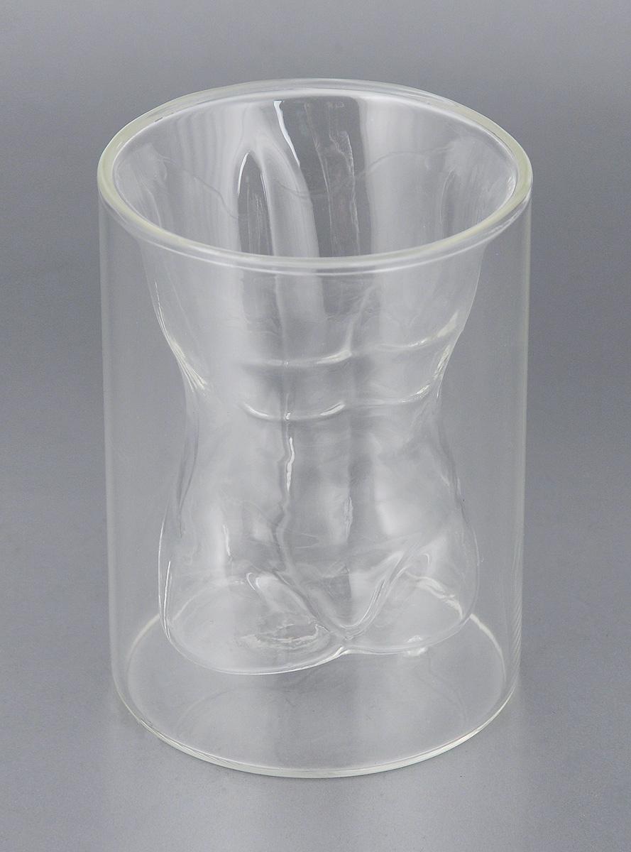 Стакан Bradex Мужской торс, с двойными стенками, 200 млSU 0032Стакан Bradex Мужской торс изготовлен из боросиликатного стекла. Внутренняя часть стакана выполнена в форме обнаженного силуэта, который становится заметным только после того, как стакан заполняется жидкостью. Подходит для холодных и горячих напитков. Внешний слой не нагревается, даже если в стакан налить кипяток. Объем: 200 мл. Диаметр: 8 см. Высота: 11 см.