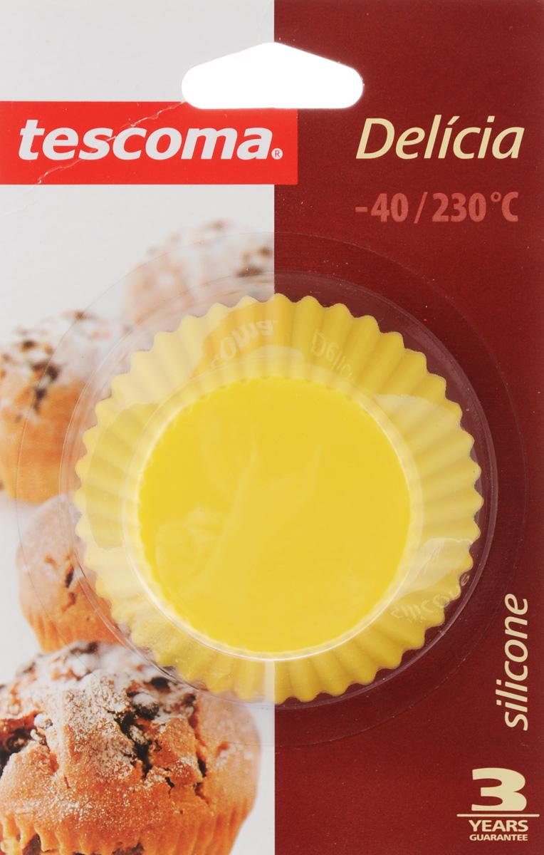 Форма для выпечки Tescoma Delicia, силиконовая, диаметр 7 см, 6 шт630646Формы для выпечки Tescoma Delicia, изготовленные из высококачественного силикона, выдерживающего температуру от -40°C до +230°C. В комплекте 6 форм, выполненных в виде мини-кексов. Если вы любите побаловать своих домашних вкусным и ароматным угощением по вашему оригинальному рецепту, то формы Tescoma Delicia как раз то, что вам нужно! Подходит для морозильной камеры и мытья в посудомоечной машине. Диаметр формы (по верхнему краю): 7 см. Высота формы: 3,3 см.