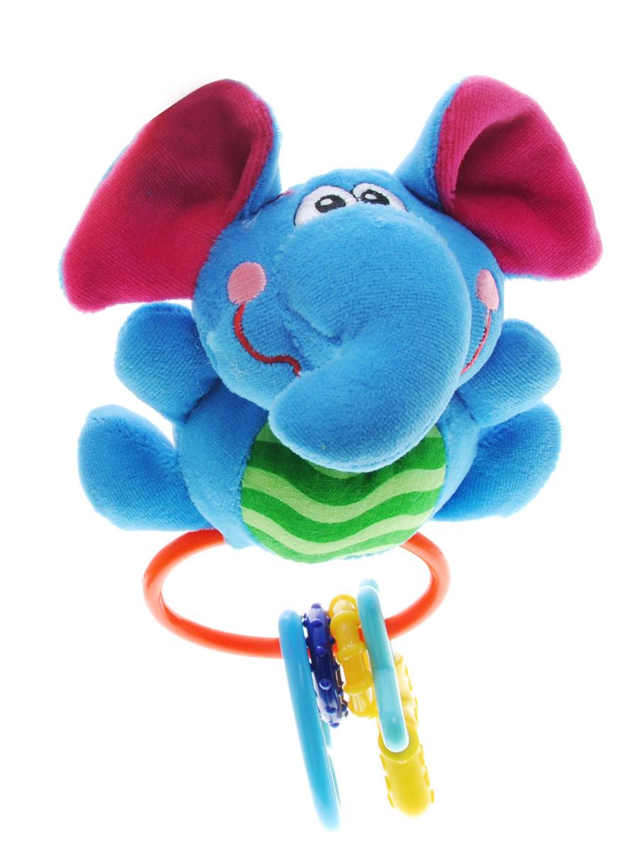 Жирафики Мягкая развивающая игрушка Слоник93523_слоникМягкая развивающая игрушка Слоник изготовлена из ярких тканей разных цветов и разной фактуры. Как же весело и интересно ее рассматривать! Но держать ее в маленьких ручках еще интереснее, ведь она таит в себе столько приятных сюрпризов и столько удивительных открытий! При сжатии слоник издает забавный писк. В нижней части игрушки расположены элементы с пластиковыми разноцветными колечками. Игрушка способствует развитию цветовосприятия, звуковосприятия и мелкой моторики рук.