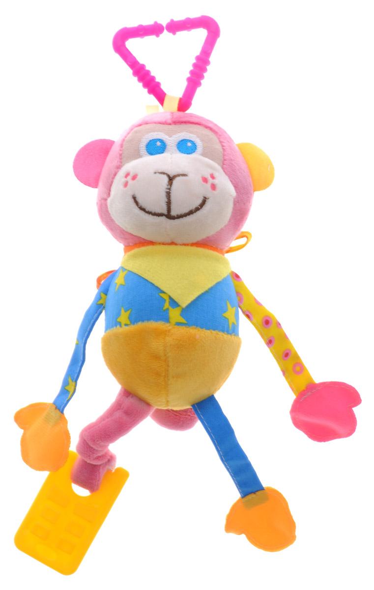 Мякиши Мягкая развивающая игрушка-подвеска Мартышка329_розовый,желтый,синийМягкая развивающая игрушка-подвеска Мякиши Мартышка - это самая первая игрушка вашего малыша. Яркий образ подвески, разнофактурные материалы, прорезыватели и звуковые элементы способствуют развитию воображения, сенсорных способностей, мелкой моторики рук, концентрации внимания, координации и последовательности движений. Благодаря надежному креплению подвеску можно закрепить на коляске, кроватке или автокресле. Мартышка выполнена из высококачественных материалов. На мордочке Мартышки вышиты носик, ротик и глазки. Хвостик Мартышки вытягивается, становясь еще длиннее, а потом сжимается обратно. На шее Мартышки съемный платочек, который можно завязывать и развязывать. Веселая и добрая Мартышка забавной улыбкой и открытым взглядом поднимет настроение и заставит улыбнуться.