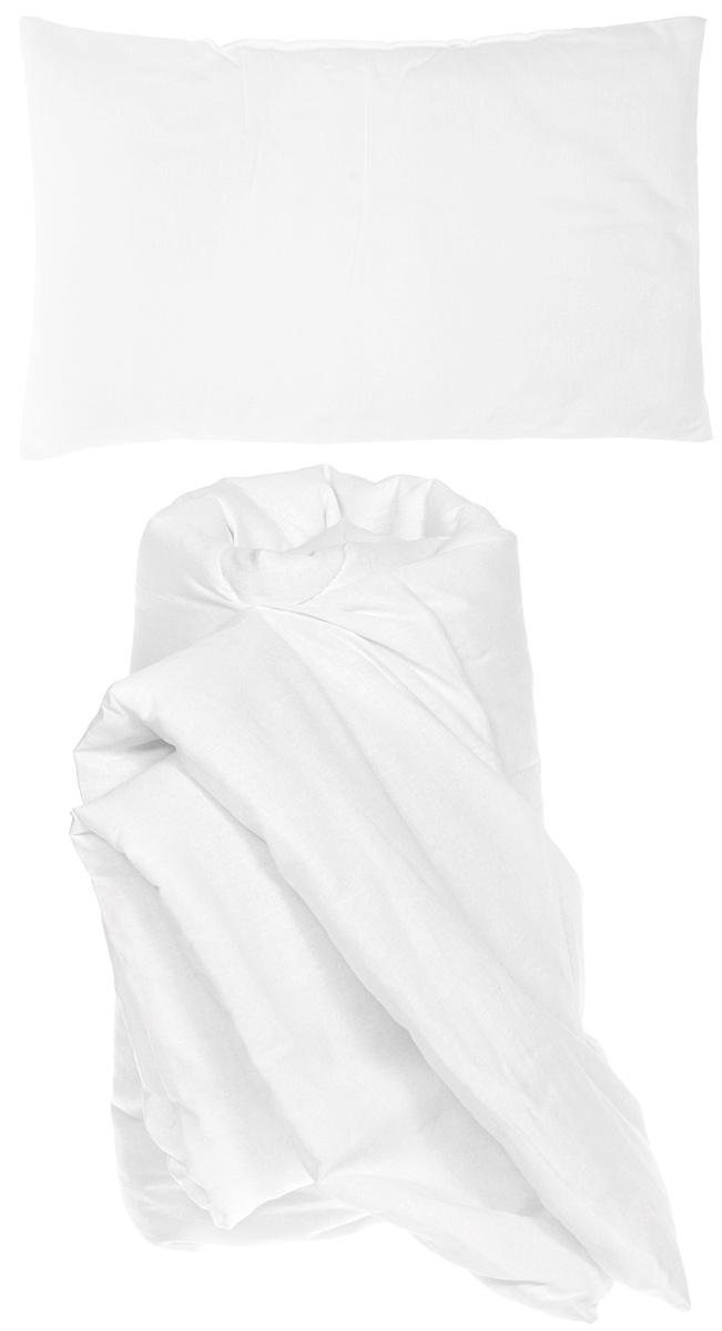 Rabby Baby Комплект для детской кроватки Одеяло и подушкаRBSET1Комплект для детской кроватки Rabby Baby состоит из одеяла и подушки белого цвета. Чехол изделий изготовлен из натурального материала - бязи (100% хлопок), наполнитель - холлкон. Благодаря этому составу подушка и одеяло очень легкие, но в тоже время теплые и гипоаллергенные. С таким комплектом вашему малышу будет тепло и комфортно.