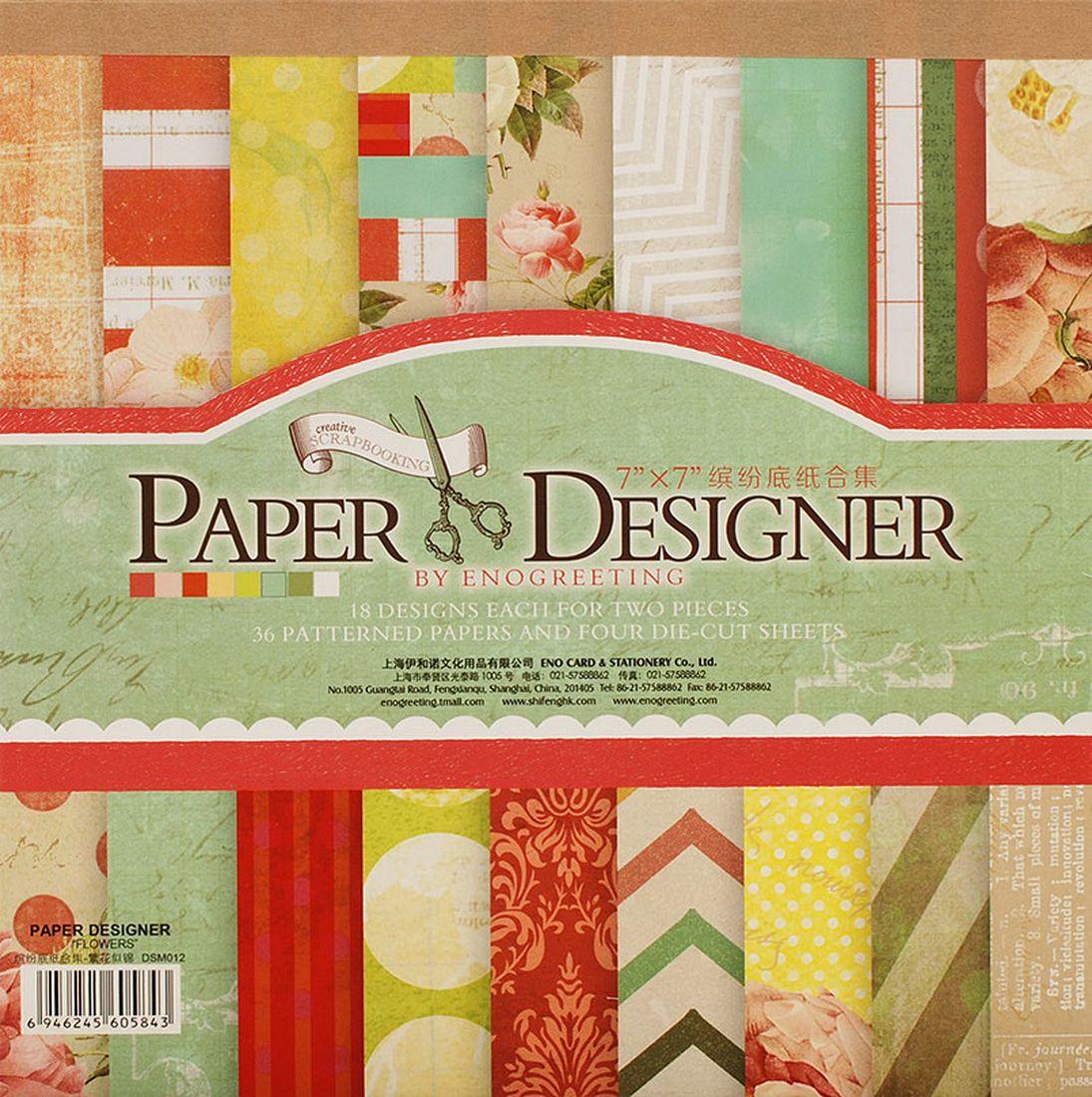 Набор бумаги для скрапбукинга Белоснежка Яркие цветы, 17,5 x 17,5 см, 36 листов010-SBВ наборе:36 листов (18 видов дизайна по 2 листа) + 4 листа с вырубкой. Размер: 17.5см*17.5см