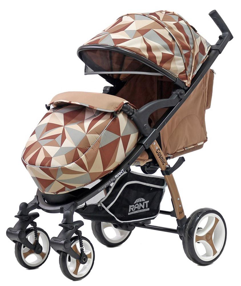 Rant Коляска прогулочная Cosmic цвет коричневый4630008879528Всесезонная прогулочная коляска COSMIC от торговой марки RANT станет незаменимым помощником для родителей малыша с рождения и до 3-х лет. Удобная и функциональная коляска, выполненная в оригинальном стиле и в красочных дизайнерских оттенках. Коляску COSMIC можно использовать как летом, так и зимой. В комплектацию коляски входит конверт-переноска с жёсткой основой для новорожденного малыша, который пригодится в зимние месяцы во время прогулок в коляске на свежем воздухе, походов в поликлинику, магазин или в гости. Конверт-переноска имеет съемный защитный капюшон, защищающий от непогоды, мягкие ручки для переноски. Конверт легко и удобно расстёгивается по бокам, при помощи двух молний для быстрого и удобного доступа к малышу. Поэтому, когда вы со спящим ребенком вернетесь с прогулки, вам совсем необязательно его будить, доставая из конверта, а достаточно расстегнуть молнии по бокам, распахнуть конверт, оставить малыша досыпать и спокойно можно ждать, когда ребенок проснется уже...