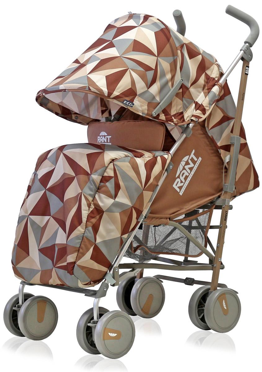 Rant Коляска прогулочная Molly Alu цвет коричневый4630008879740Детская прогулочная коляска -трость Molly для детей от 6 месяцевдо 3-х лет. Легкая, удобная коляска подходит для ежедневных прогулок с малышом на свежем воздухе, для дальних путешествий или шопинга. Большой капюшон со смотровым окошком и карманом, теплая накидка на ножки, регулируемые по высоте спинка и подножка коляски, позволяют уютно и комфортно расположиться малышу в коляске. Защитят ребенка во время прогулки пятиточечные ремни безопасности. Облегченная алюминиевая рама, пластиковые колеса, узкая колесная база позволяют без труда преодолевать разного рода препятствия (дверные, лифтовые проемы, бордюры, лестницы). Коляска-трость Molly из-за облегченной конструкции и небольших габаритов компактно складывается «тростью», удобна при транспортировке.