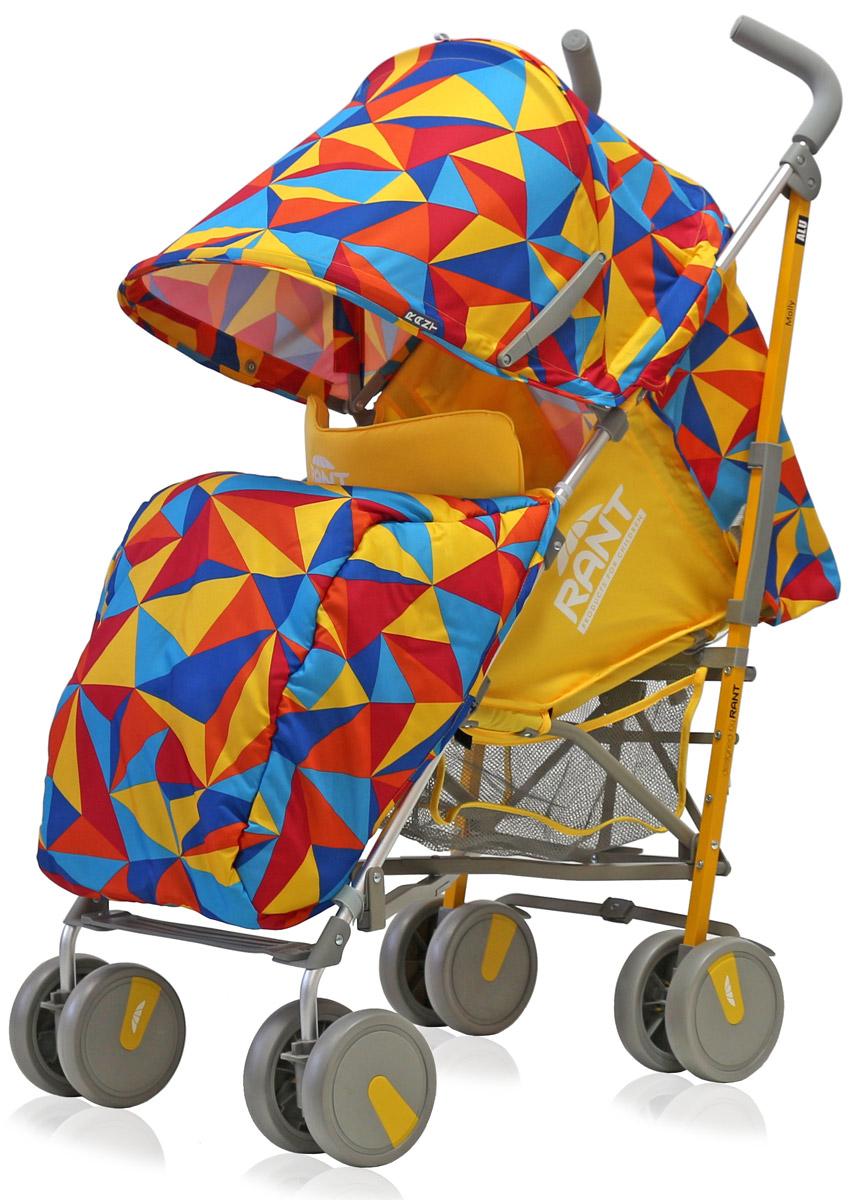 Rant Коляска прогулочная Molly Alu цвет желтый4630008879764Детская прогулочная коляска -трость Molly для детей от 6 месяцев до 3-х лет. Легкая, удобная коляска подходит для ежедневных прогулок с малышом на свежем воздухе, для дальних путешествий или шопинга. Большой капюшон со смотровым окошком и карманом, теплая накидка на ножки, регулируемые по высоте спинка и подножка коляски, позволяют уютно и комфортно расположиться малышу в коляске. Защитят ребенка во время прогулки пятиточечные ремни безопасности. Облегченная алюминиевая рама, пластиковые колеса, узкая колесная база позволяют без труда преодолевать разного рода препятствия (дверные, лифтовые проемы, бордюры, лестницы). Коляска-трость Molly из-за облегченной конструкции и небольших габаритов компактно складывается «тростью», удобна при транспортировке.