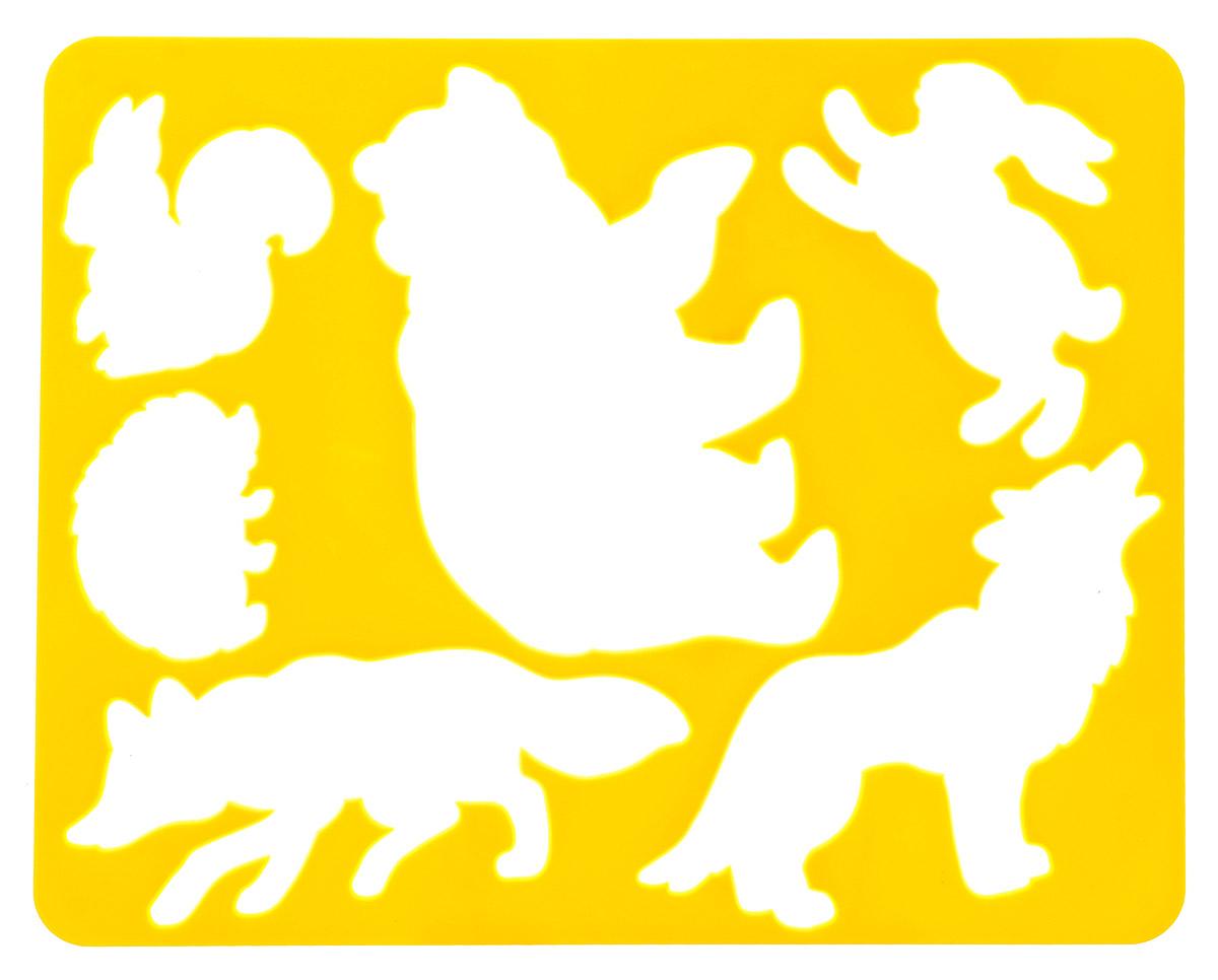 Луч Трафарет Лесные звери цвет желтый