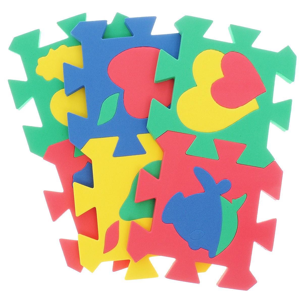 Бомик Пазл для малышей Коврик Мозаика402Пазл для малышей Бомик Коврик. Мозаика - увлекательная игра и практическое занятие для развития ребенка. Пазл выполнен из мягкого полимера, поэтому детали легко гнутся и не ломаются, их всегда можно состыковать. Пазл представляет собой 6 ковриков, каждый размером 14 см на 14 см с силуэтами-вкладышами в виде различных фигур. Пазл развивает у ребенка память, воображение, моторику, пространственное и логическое мышление.