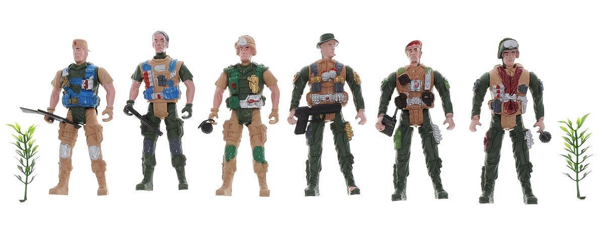 Shantou Набор солдатиков Mission Combat 6 штN763-H39018Набор солдатиков Shantou Mission Combat - целая группа из шести тренированных бойцов, облаченных в камуфляжную одежду. У каждого солдата есть собственный автомат. В комплект также входят бутафорские ветки деревьев, за которыми может прятаться группа бойцов во время атаки или слежки и боевое оружие. Набор прекрасно развивает воображение и фантазию, а также тактические навыки ребенка.