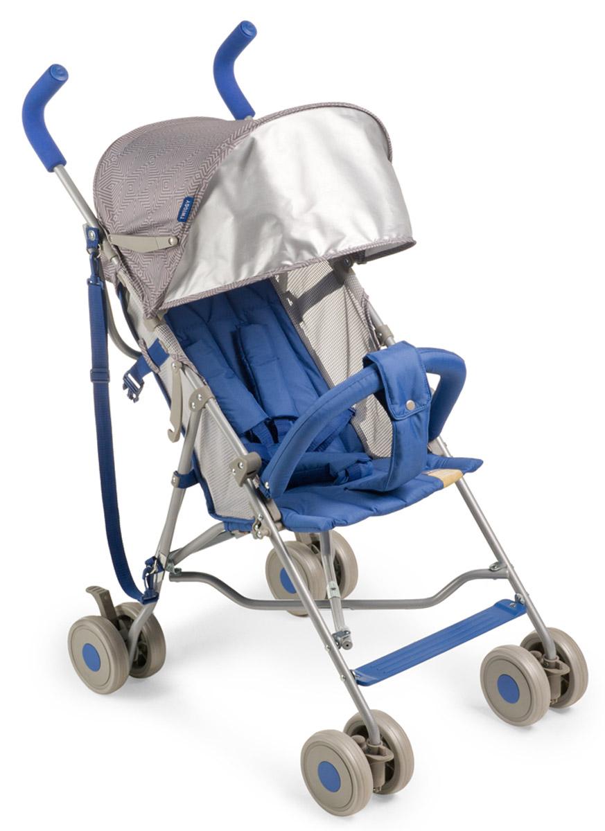Happy Baby Коляска-трость Twiggy Blue4650069782728Коляска Twiggy создана специально для тех, кто ценит максимальный комфорт при минимальном весе. Отличный ход обеспечивают сдвоенные колеса, из которых передние поворотные на 360? с возможностью фиксации. Передние колеса с амортизацией, что дает дополнительный комфорт для ребенка. При весе всего 4,35 кг Twiggy имеет пятиточечные ремни безопасности, мягкие нескользящие ручки, съемный бампер, большой капюшон с возможностью увеличения, ремень для переноски, подстаканник. Возраст ребенка: от 7 месяцев. Максимальный вес ребенка: 15 кг. В разложенном виде ДхШхВ: 74 см х 51 см х 98 см. В сложенном виде ДхШхВ: 109 см х 29 см х 34 см. Вес коляски: 4,35 кг. Глубина сиденья: 26 см. Длина спального места: 69 см. Кол-во положений спинки: 2 положения. Регулировка ручки: отсутствует. Регулировка подножки: отсутствует. Передние поворотные колеса с возможностью фиксации. Тип складывания: трость. В комплекте: ремень для переноски,...