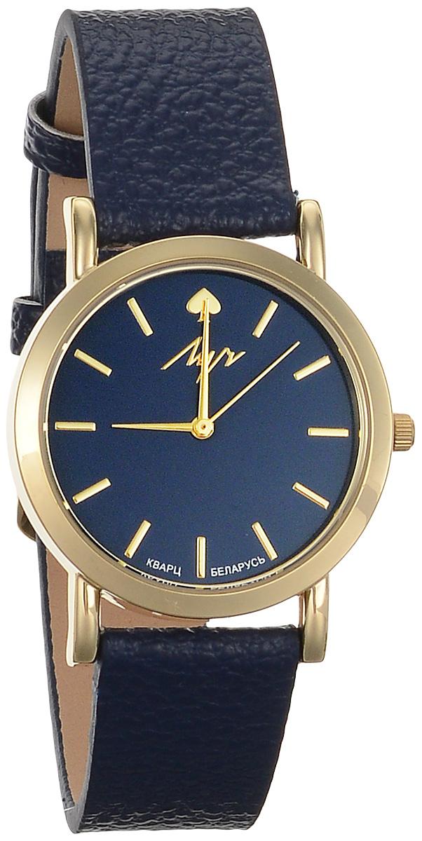 Часы наручные женские Луч Современная, цвет: золотой, синий. 729107273729107273Элегантные женские часы Луч Современная изготовлены из нержавеющей стали и минерального стекла. Корпус часов имеет степень влагозащиты равную 3 Bar, оснащен кварцевым механизмом Miyota, а также дополнен устойчивым к царапинам минеральным стеклом. Ремешок часов выполнен из натуральной кожи с зернистой фактурой. Практичная пряжка, дополняющая ремешок, позволит с легкостью снимать и надевать часы. Часы поставляются в фирменной упаковке. Часы Луч Современная подчеркнут изящность женской руки и отменное чувство стиля у их обладательницы.