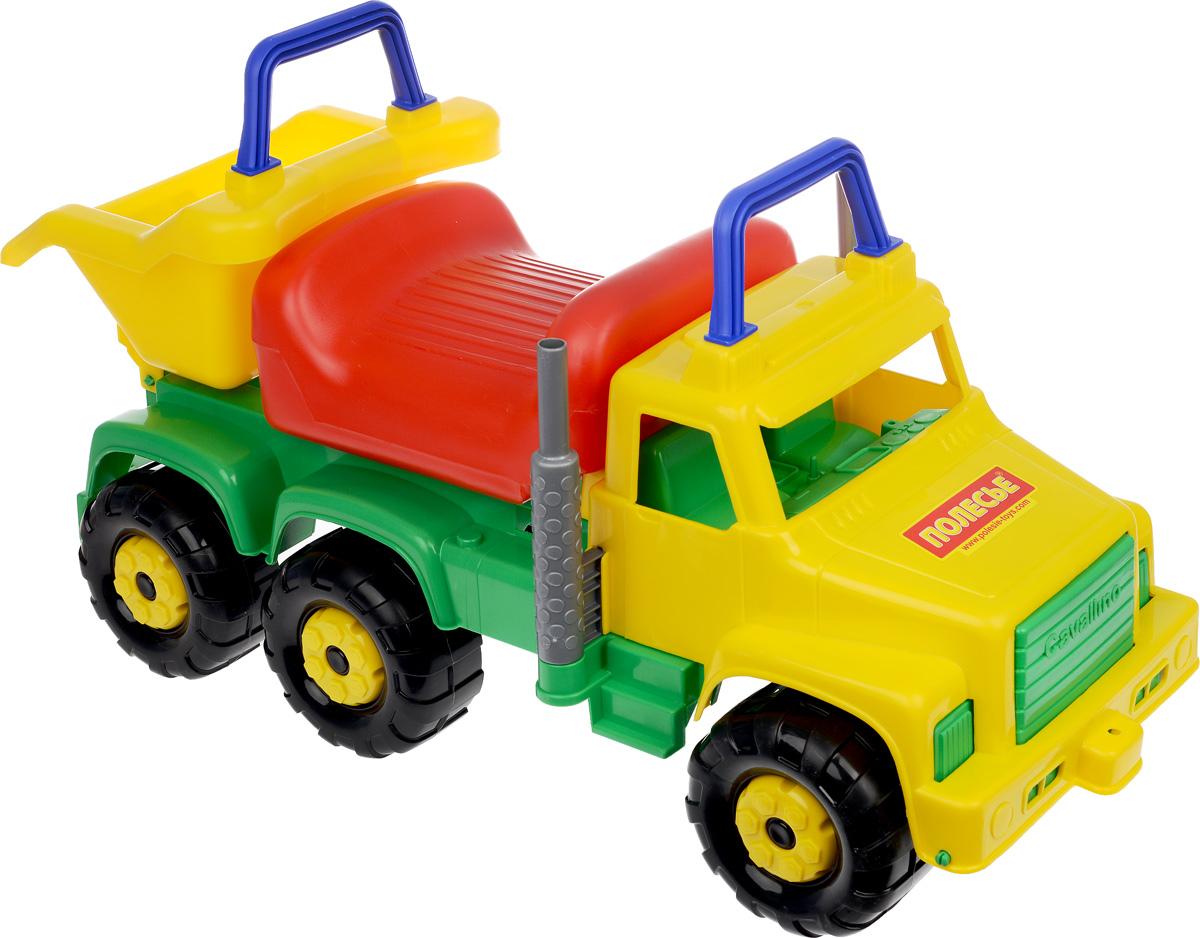 Полесье Автомобиль-каталка Супергигант-2 цвет желтый зеленый7889_желый, зеленыйАвтомобиль-каталка Полесье Супергигант-2 станет замечательным транспортным средством для вашего ребенка. Для того чтобы покататься, ребенку достаточно просто сесть на сиденье и, отталкиваясь ногами, катиться вперед. Мощная каталка на шести устойчивых колесах позволит малышу не просто кататься, но и перевозить различные грузы. В подъемном кузове можно возить, например, песок для строительства песочных замков или необходимые игрушки. На кабине и на кузове имеются ручки, чтобы можно было держаться. Яркий прочный материал безопасен для детского здоровья, не выгорает на солнце. Автомобиль-каталка легко моется и сохраняет свой первоначальный вид. Такая игрушка обязательно пригодится вашему малышу на отдыхе или на даче. Выдерживает до 50 кг.