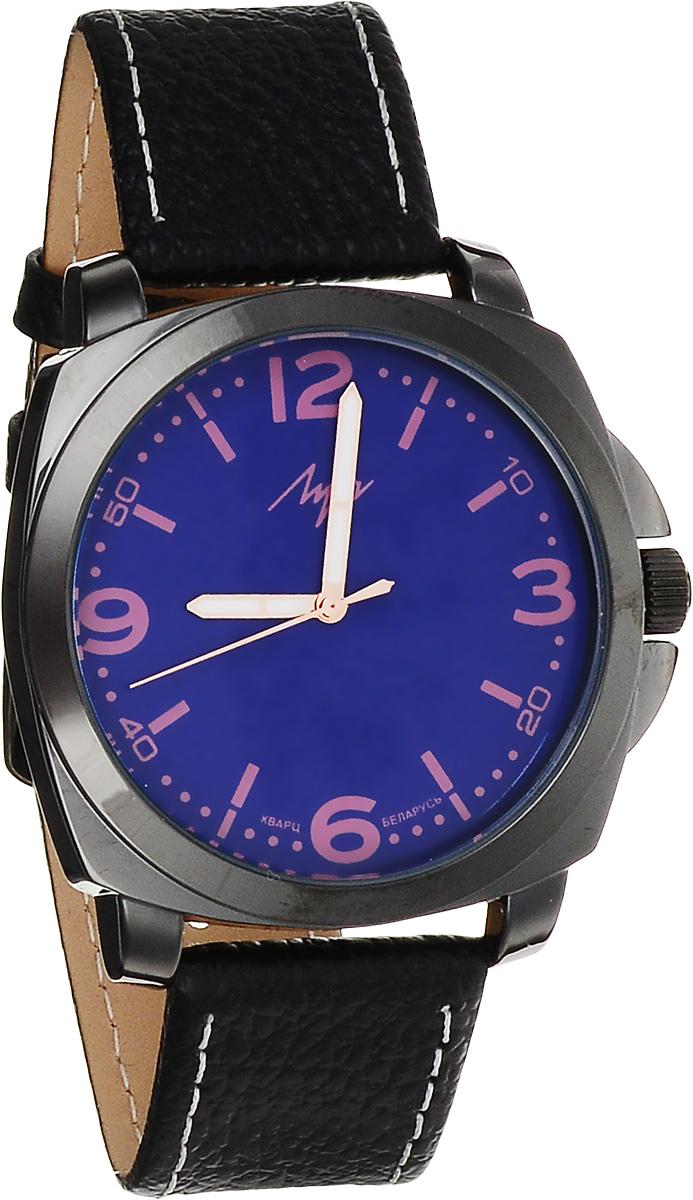 Часы наручные женские Луч Современная, цвет: черный, фиолетовый. 729107283729107283Стильные женские часы Луч Современная изготовлены из нержавеющей стали и минерального стекла. Циферблат часов оформлен символикой бренда. Корпус часов имеет степень влагозащиты равную 3 Bar, оснащен кварцевым механизмом Miyota, а также дополнен устойчивым к царапинам минеральным стеклом. На стрелки нанесен светящийся состав. Практичная пряжка, дополняющая ремешок из натуральной кожи, позволит с легкостью снимать и надевать часы. Часы поставляются в фирменной упаковке. Часы Луч Современная подчеркнут изящность женской руки и отменное чувство стиля у их обладательницы.