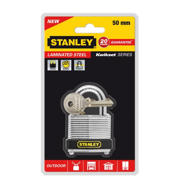 Замок Stanley из листовой оцинкованной стали, 50 мм. S742-020S742-020Замки для использования на улице