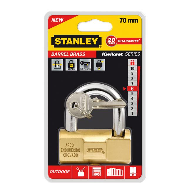 Замок Stanley Barrel повышенной безопасности, 70 мм. S742-048S742-048Замки для использования на улице