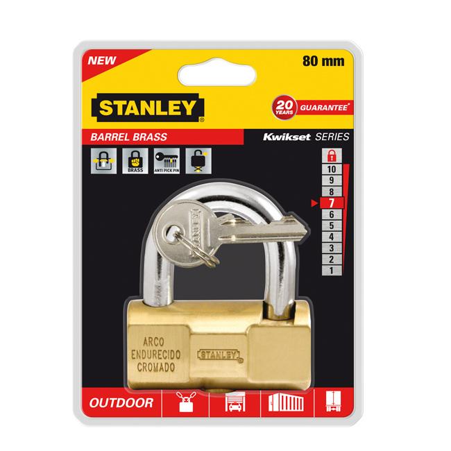 Замок Stanley Barrel повышенной безопасности, 80 мм . S742-049S742-049Замки для использования на улице