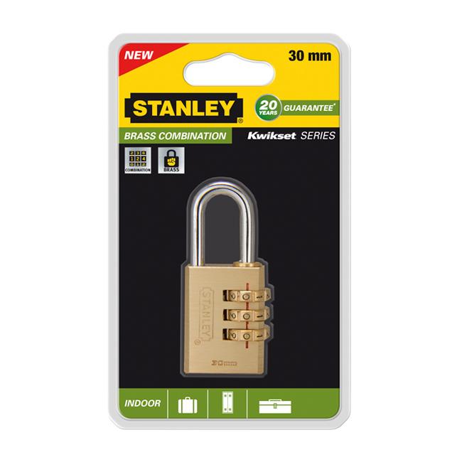 Замок Stanley с 3-х значным кодом, 30 мм. S742-051S742-051Замки для использования в помещении