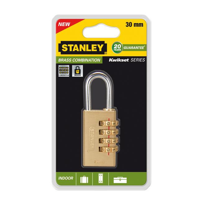 Замок Stanley с 4-х значным кодом, 30 мм. S742-052S742-052Замки для использования в помещении