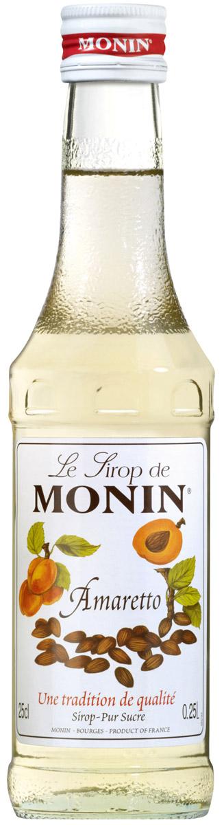 Monin Амаретто сироп, 0,25 лSMONN0-000100Amaretto - по-итальянски немного горький, указывает на отличительный аромат горького миндаля. Amaretto известен как ликер из абрикосовых косточек, который может содержать миндаль и другие специи и приправы. По вкусу напоминает марципан, имеет аромат миндального ореха. Сироп Monin Амаретто является прекрасной альтернативой ликера и предлагает необыкновенную универсальность использования. Сиропы Monin выпускает одноименная французская марка, которая известна как лидирующий производитель алкогольных и безалкогольных сиропов в мире. В 1912 году во французском городке Бурже девятнадцатилетний предприниматель Джордж Монин основал собственную компанию, которая специализировалась на производстве вин, ликеров и сиропов. Место для завода было выбрано не случайно: город Бурже находился в непосредственной близости от крупных сельскохозяйственных районов - главных поставщиков свежих ягод и фруктов. Эксперты всего мира сходятся во мнении, что сиропы Monin...