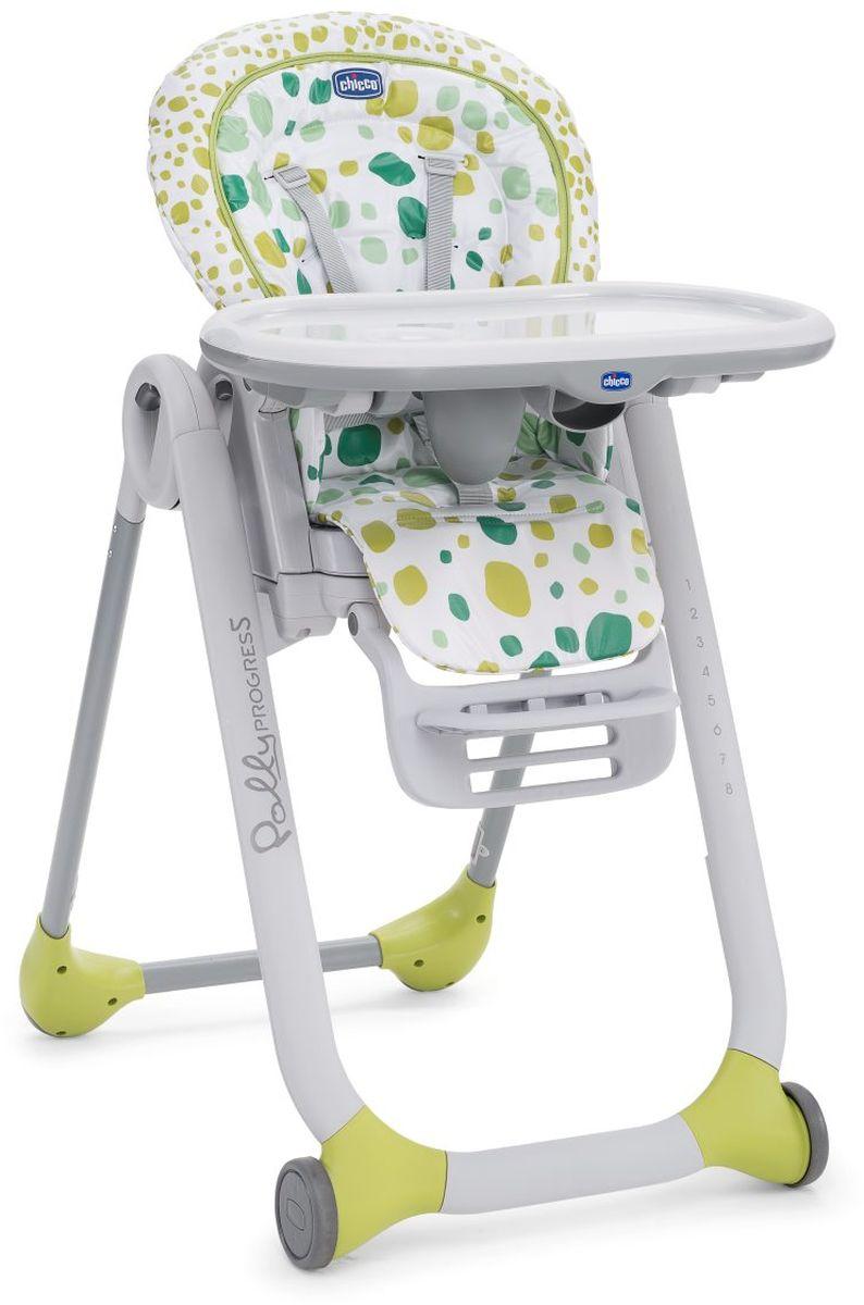 Chicco Стульчик Polly Progress 5 Kiwi07079335360000Polly Progres 5 - это единственный стульчик, который «растет» вместе с ребенком с самого рождения до трех лет. Пять различных конфигураций одного продукта: детское кресло с рождения, стульчик для кормления, первый стул для еды за столом, бустерное сидение со столиком с высокой спинкой и компактное бустерное сидение для еды за столом.