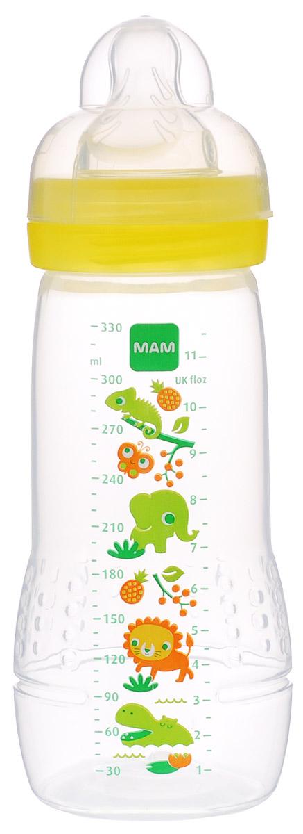 МАМ Бутылочка для кормления Baby Bottle от 4 месяцев цвет желтый 330 мл