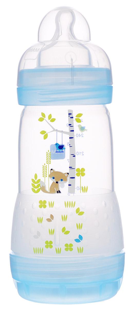 МАМ Бутылочка для кормления Anti-Colic от 0 месяцев цвет голубой 260 мл