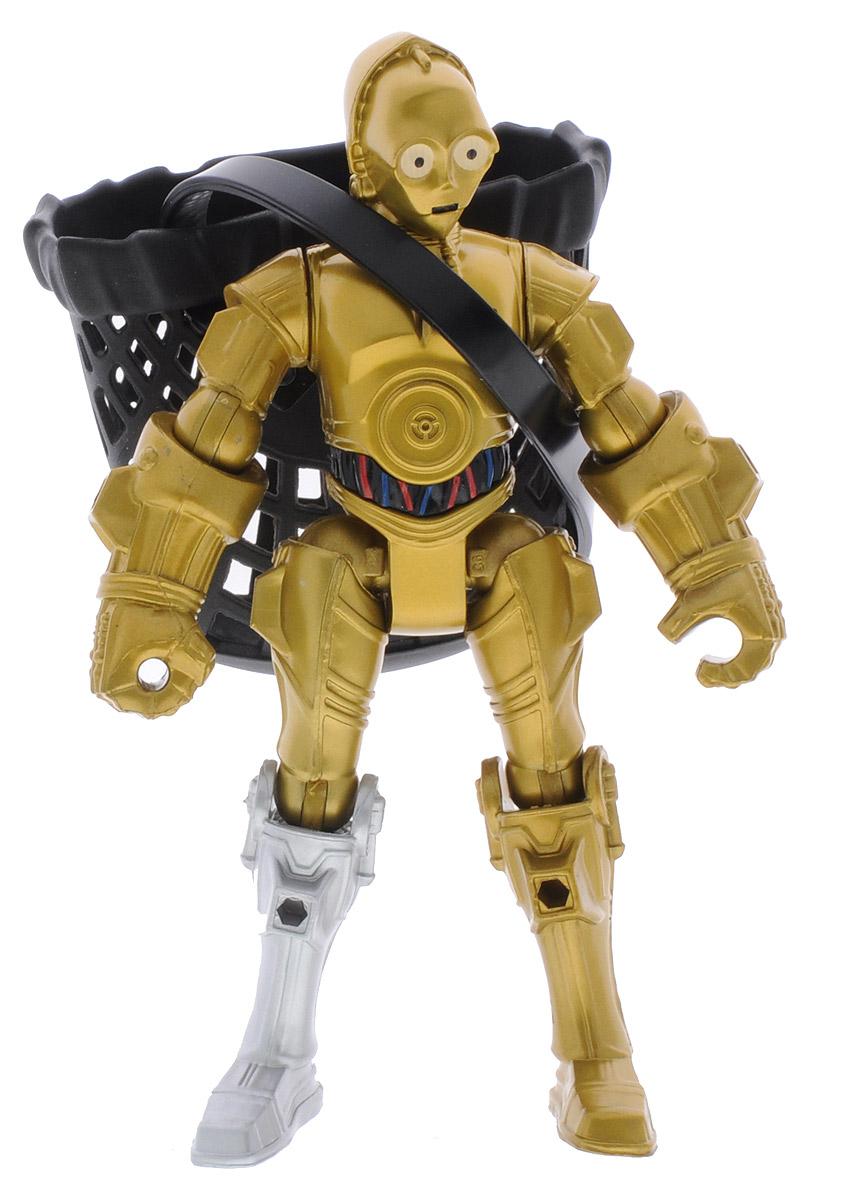 HeroMashers Фигурка C-3POB3769_B3656С-3РO - культовый персонаж, который появлялся во всех эпизодах Звездных Войн, владеет более чем шестью миллионами языков. Был создан как протокольный дроид и верно служил всем своим владельцам. Фигурка HeroMashers C-3PO выполнен в виде героя всеми любимой фантастической саги Звездные войны. Фигурка из пластика проработана до мельчайших деталей и является точной копией своего прототипа в уменьшенном размере. Конечности игрушки подвижны - это сделает игру реалистичной и разнообразной. Еще одной особенностью данной серии фигурок является то, что конечности разных фигурок взаимозаменяемы, поэтому вы сможете создать свою собственную, уникальную фигурку! Такая фигурка непременно понравится поклоннику Звездных войн и станет замечательным украшением любой коллекции. В комплекте: фигурка и аксессуар.