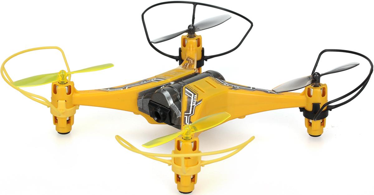 Silverlit Квадрокоптер на радиоуправлении Spy Drone II цвет желтый черный84738Квадрокоптер Silverlit Spy Drone II с четырехканальным радиоуправлением непременно понравится и ребенку, и взрослому. Управление квадрокоптером осуществляется при помощи удобного пульта. Пульт управления работает на частоте 2,4 GHz, а радиус его действия составляет 30 метров. Квадрокоптер может летать вверх-вниз, поворачивать налево-направо, летать в стороны, вперед и назад, а также поворачиваться на 360 градусов. Квадрокоптер имеет встроенную камеру, с помощью которой вы сможете осуществлять фото- и видеосъемку. Использовать квадрокоптер можно в закрытых помещениях или на улице в сухую и безветренную погоду. Радиоуправляемые игрушки развивают многочисленные способности ребенка - мелкую моторику, пространственное мышление, реакцию и логику. Квадрокоптер работает от встроенного аккумулятора, который заряжается с помощью USB-кабеля (входит в комплект). Для работы пульта управления необходимо купить 3 батарейки напряжением 1,5V типа АА (в комплект не входят).