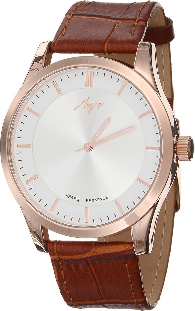 Часы наручные женские Луч Современная, цвет: золотой, коричневый. 729107281729107281Стильные женские часы Луч Современная изготовлены из нержавеющей стали и минерального стекла. Циферблат часов оформлен символикой бренда. Корпус часов имеет степень влагозащиты равную 3 Bar, оснащен кварцевым механизмом Miyota, а также дополнен устойчивым к царапинам минеральным стеклом. На стрелки нанесен светящийся состав. Практичная пряжка, дополняющая ремешок из натуральной кожи, позволит с легкостью снимать и надевать часы. Часы поставляются в фирменной упаковке. Часы Луч Современная подчеркнут изящность женской руки и отменное чувство стиля у их обладательницы.