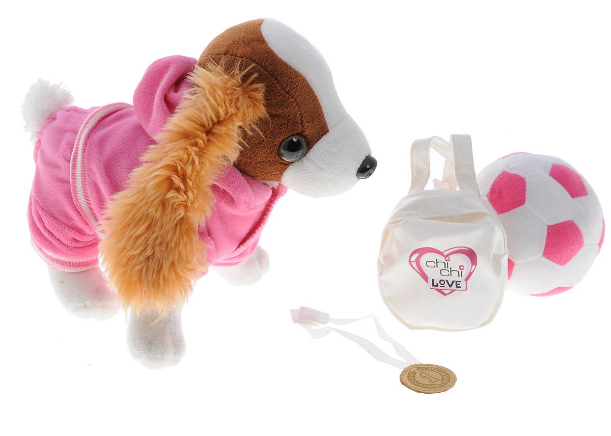 Simba Мягкая игрушка Кокер-спаниель 20 см5894233Очаровательная мягкая игрушка Simba Кокер-спаниель, выполненная в виде симпатичной собачки в розовой толстовке, непременно понравится маленьким модницам. Чудесная мягкая игрушка принесет радость и подарит своей обладательнице мгновения нежных объятий и приятных воспоминаний. Игрушка изготовлена из мягкого материала, глазки и носик изготовлены из пластика. В комплект с игрушкой входят белый рюкзачок, мячик м медаль для собачки. Порадуйте свою малышку таким замечательным подарком - он подчеркнет ее стильный образ!