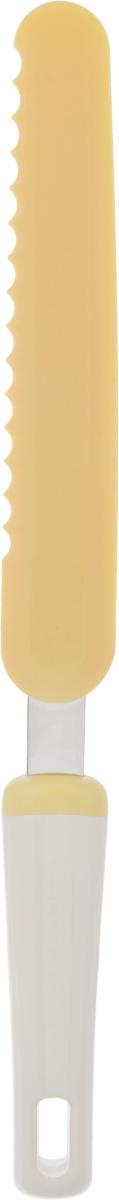 Нож-лопатка для Tescoma Delicia, для растирания, длина 32 см630060Нож-лопатка для Tescoma Delicia выполнен из термостойкого нейлона, который отлично выдерживает температуру до 210°C. Изделие отлично подходит для растирания глазури, резки тортов и десертов. Ручка выполнена из прочного пластика и нержавеющей стали. Можно мыть в посудомоечной машине.