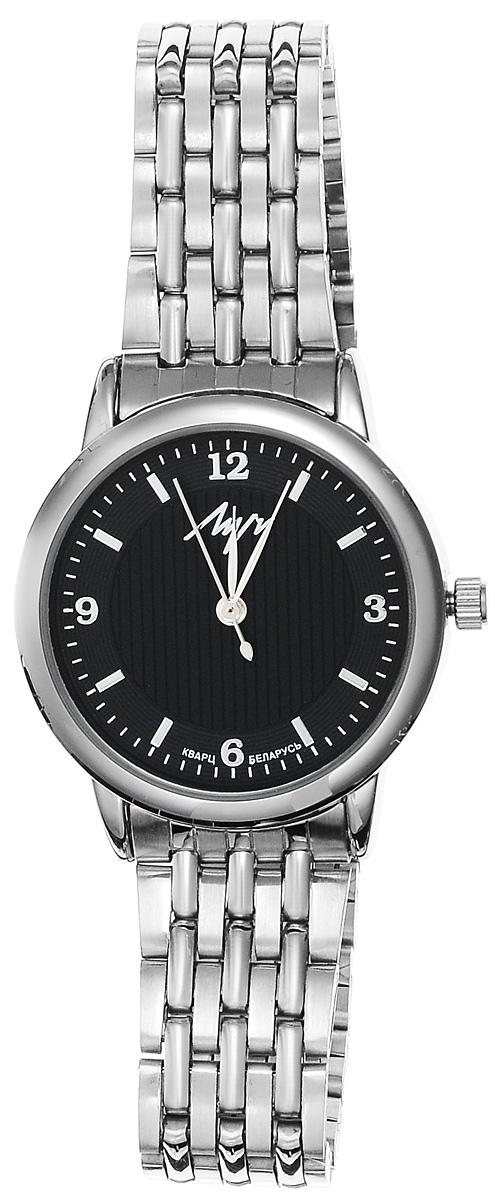 Часы наручные женские Луч Современная, цвет: серебряный, черный. 729107279729107279Стильные женские часы Луч Современная изготовлены из нержавеющей стали, металлического сплава и минерального стекла. Циферблат часов оформлен символикой бренда. Корпус часов имеет степень влагозащиты равную 3 Bar, оснащен кварцевым механизмом Miyota, а также дополнен устойчивым к царапинам минеральным стеклом. Практичный замок-клипса, дополняющий браслет, позволит с легкостью снимать и надевать часы. Часы поставляются в фирменной упаковке. Часы Луч Современная подчеркнут изящность женской руки и отменное чувство стиля у их обладательницы.