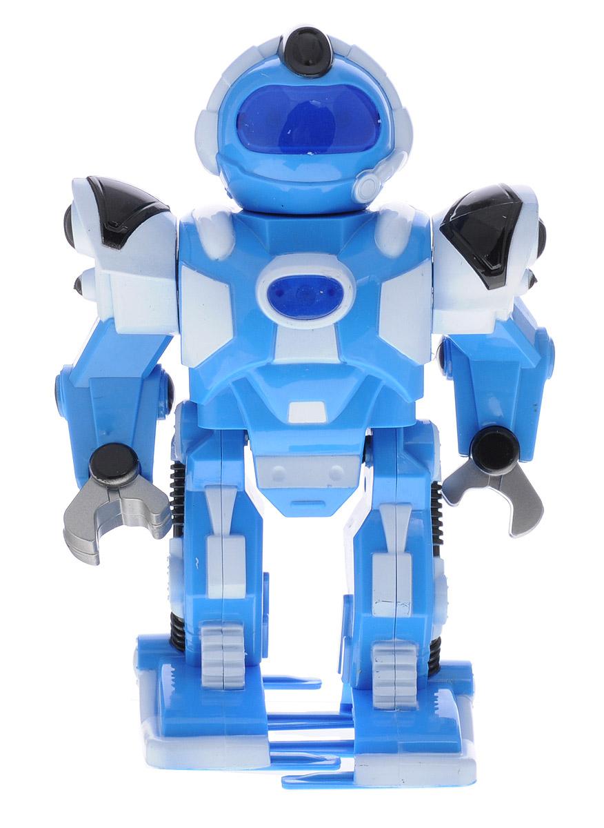 Shantou Робот цвет голубойT13-D3365_голубойРобот Shantou привлечет внимание вашего ребенка и не позволит ему скучать. Робот с подвижными руками и ногами оснащен световыми эффектами. Сопровождается движение робота реалистичным механическим звуком. Во время игры с роботом у ребенка развивается воображение, стимулируется игровая деятельность, улучшается координация движений. Для работы робота необходимо купить 3 батарейки напряжением 1,5V типа АА (не входят в комплект).