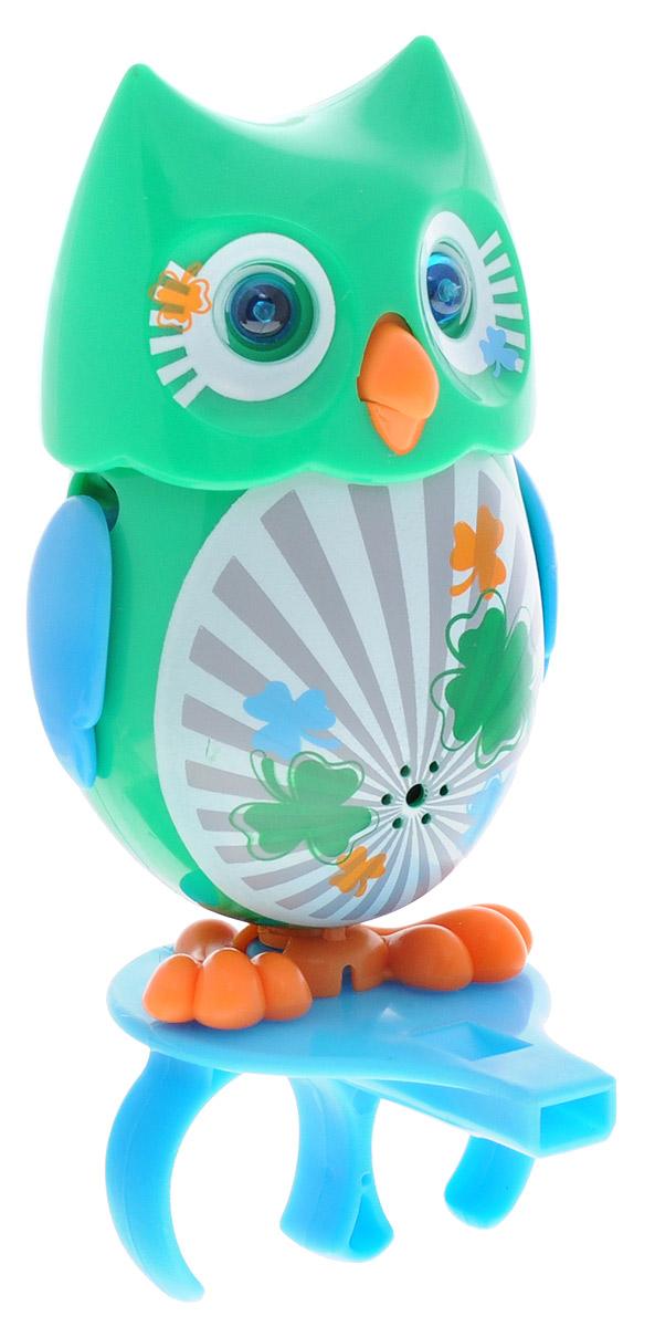DigiFriends Интерактивная игрушка Сова с домиком цвет зеленый