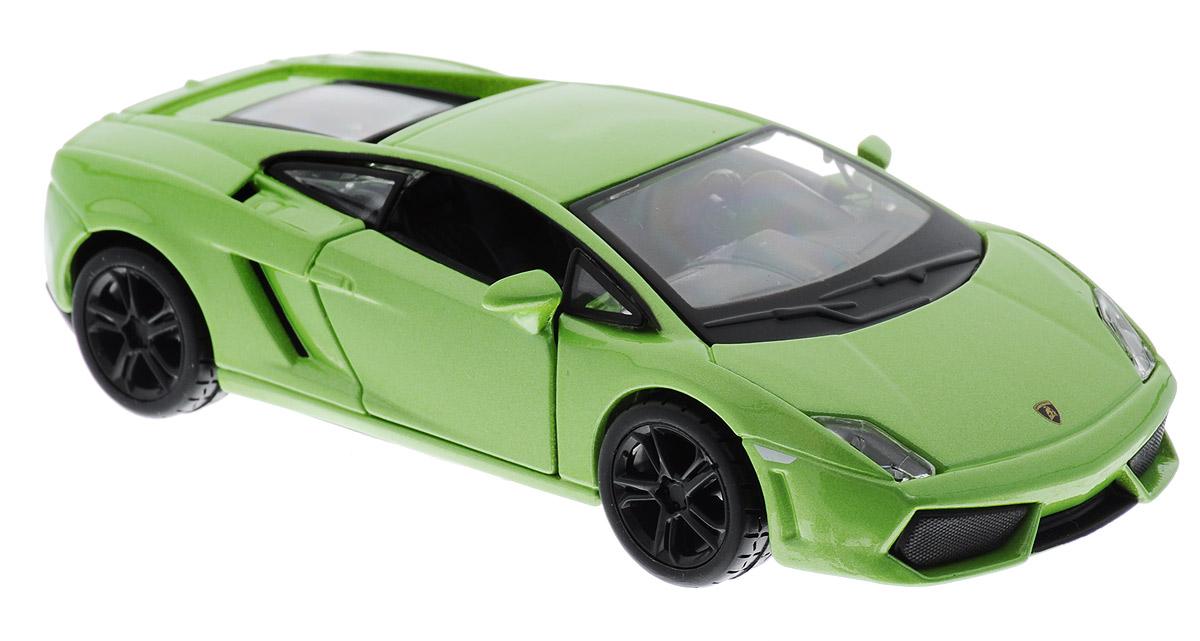 Bburago Модель автомобиля Lamborghini Gallardo LP 560-4 цвет салатовый18-43000_салатовыйМодель автомобиля Bburago Lamborghini Gallardo LP 560-4 обязательно привлечет внимание как ребенка, так и взрослого коллекционера. Благодаря броской внешности, а также великолепной точности, с которой создатели этой модели масштабом 1:32 передали внешний вид настоящего автомобиля, машинка станет подлинным украшением любой коллекции авто. Машинка будет долго служить своему владельцу благодаря металлическому корпусу с элементами из пластика. Передние двери машины открываются. Прорезиненные колеса обеспечивают отличное сцепление с любой поверхностью пола. Модель автомобиля Bburago Lamborghini Gallardo LP 560-4 обязательно понравится вашему ребенку и станет достойным экспонатом любой коллекции.
