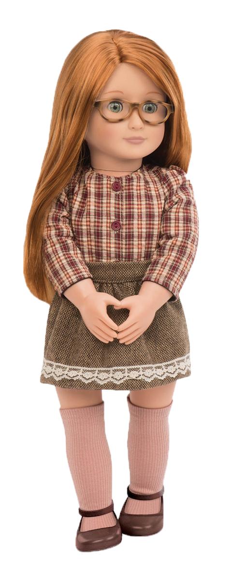 Our Generation Кукла Эйприл11530Кукла Our Generation Эйприл очарует любую девочку. Эйприл круглая отличница в школе и предпочитает полный порядок в своих делах и в собственном внешнем виде. Тело куколки мягконабивное, а голова, ноги и руки выполнены из винила. Данный материал нетоксичен и не вызывает аллергии. Куколка одета в клетчатою рубашку и коричневую юбочку. На ногах Эйприл - гольфики и коричневые туфельки. У куклы длинные густые волосы, которые вдохновляют на новые эксперименты с разнообразными прическами. Стильные очки дополняют образ строгой отличницы. Благодаря играм с куклой, ваша малышка сможет развить фантазию и любознательность, овладеть навыками общения и научиться ответственности. Порадуйте свою принцессу таким прекрасным подарком!