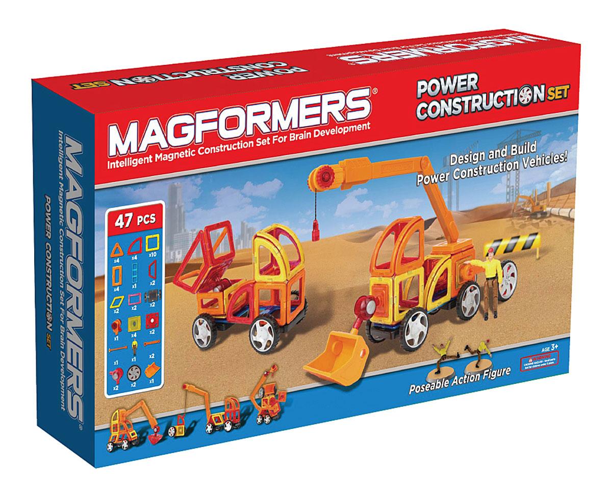 Magformers Магнитный конструктор Power Construction Set63090Magformers Power Construction Set - пожалуй, самый интересный из существующих наборов, предназначенных для создания строительной техники. В состав набора входит 47 элементов: сектор, арка, минипрямоугольник, а также специальные аксессуары, которые позволят ребенку создавать разнообразные модели строительных машин. Причем кажется, что возможности этих аксессуаров просто безграничны. вы можете создать обычную машинку, а потом при помощи рычагов и коннекторов превратить ее в настоящий трактор или бульдозер. Набор также дополнен фигуркой Строитель в униформе с подвижными руками и ногами, что позволяет не просто создать экскаватор, но и посадить внутрь него водителя. За счет того, что в ноги и руки строителя вмонтированы магниты, его прочно можно закрепить внутри созданной техники. Или проявите фантазию и посадите строителя, например, на крышу. В набор входит уже готовый ковш, что упрощает процесс создания техники типа экскаватор, специальные коннекторы и рычаги для его...