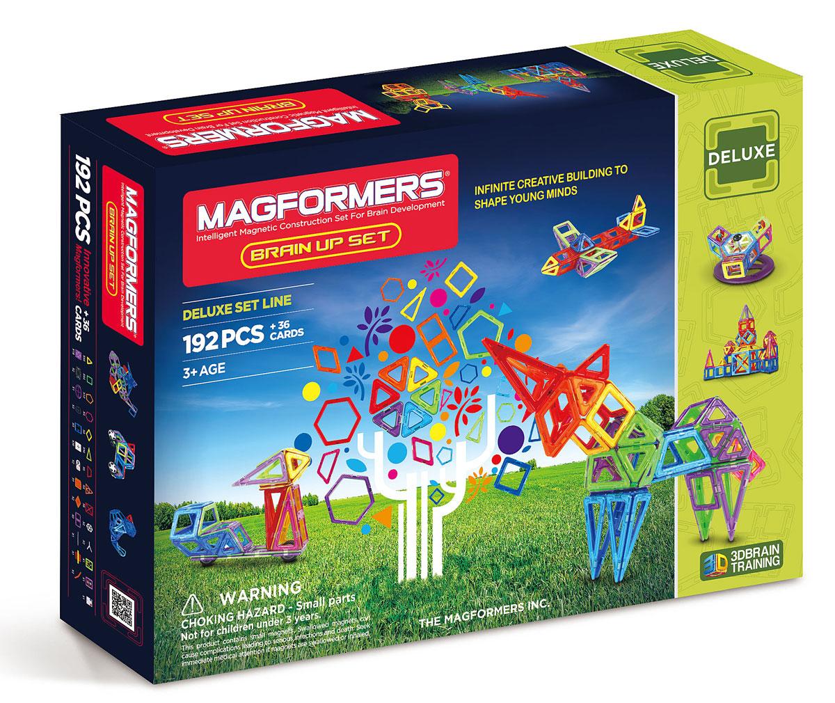 Magformers Магнитный конструктор Brain Up Set63083Magformers Brain Up, по сути, уникален. Приобретя его, вам останется только окунуться в мир фантазии и великих приключений. Набор-мечта! Набор Magformers Brain Up Set содержит 228 элементов. Здесь вы найдёте 192 детали и 36 бонусов в виде вставок в квадраты. Magformers Brain up соединил в себе по-крайней мере 5 других наборов - это и XL Cruisers Машины, который позволит вам делать различные виды машин - от самых простых до затейливых и необычных. И XL Cruisers Строители - с ним мир строительной техники и дорожных служб будет для Вас открыт. Также вы найдете здесь элементы из XL Cruisers Службы Спасения, а это значит, что ваш ребенок сможет строить различную спасательную технику и чувствовать себя настоящим героем. А с Magformers Карнавал вам откроется мир волшебства, каруселей, праздника и магических фигур, ну а Super Magformers 30 подойдет для возведения супер башен, громадных домов и прочего. Такой подарок обрадует своей многосторонностью абсолютно любого...