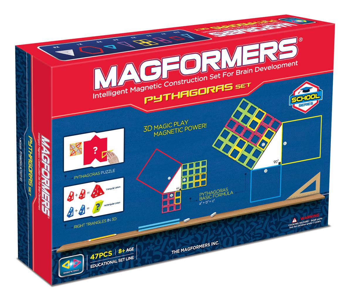 Magformers Магнитный конструктор Пифагор63113Радость для юных математиков и их родителей! На рынке появился новый набор — Magformers Pythagoras Set, или же Magformers Пифагор — уникальная возможность совместить игру с обучением. В этом наборе вы найдёте все самые важные геометрические формы: разнообразные треугольники, квадраты, прямоугольники, шестиугольник и даже пирамиды. Помимо магнитных элементов в набор включены 11 плотных листов формата А1, А2, А4 с различными интересными заданиями-головоломками по геометрии. Производителем заявлена возрастная категория 8+, но это вовсе не потому, что набор содержит мелкие детали или же может быть каким-то образом опасен для малышей — вовсе нет. Это сделано только из-за присутствия в наборе математических заданий, которые просто не по силам детям младшего возраста. То есть, приобретая этот многогранный набор старшим, можно абсолютно не бояться за младших братиков и сестричек! И ещё один плюс Magformers Пифагор — это его коробка. Во-первых, красивая,...