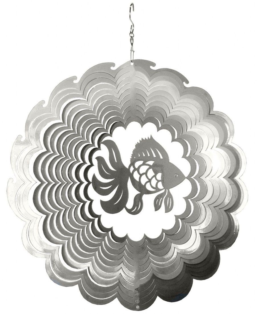 Фигурка садовая Gala Рыбка, 29,7 х 30,0 смUS002-XУкрашение для сада наполнит ваш сад волшебным светом. Приводится в движение ветром, либо специальным устройством для вращения.